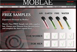 Free Perfume Samples from Moblae
