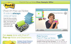 Free 3M Post-it Pop-up Notes