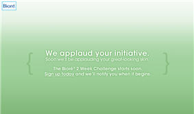 Biore Two Week Challenge Pre-signup