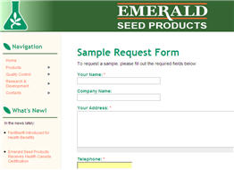 Free Emerald Seed Product Sample