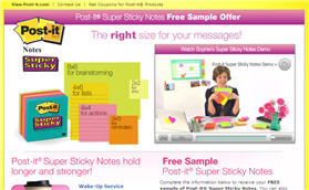 Free Sample of Post-it® Super Sticky Notes