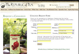 Free Republic of Tea Sample