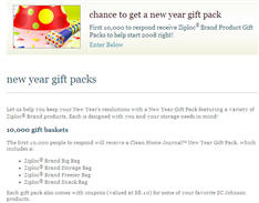 "Free Clean Home Journalâ""¢ New Year Gift Pack First 10,000"