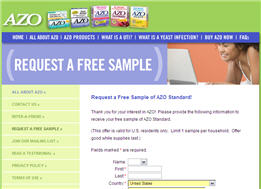 Free Sample of AZO Standard