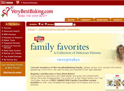 Free Carnation Family Favorites Recipe Booklet