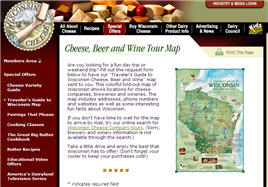 Free Wisconsin Cheese, Beer and Wine Map