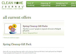 "Free Clean Home Journalâ""¢ Spring Cleanup Gift Pack"
