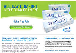 Free Sample of Focus DAILIES Contact Lenses