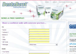 Free DentaBurst Teeth Cleaners Sample