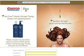 Free Dove Therapy Shampoo Sample