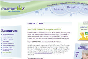Free Everydaykidz Asthma Kit and DVD
