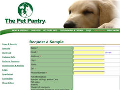 Free Sample from The Pet Pantry