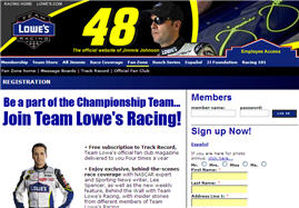 Free Subscription to Lowes Racing Fan Magazine