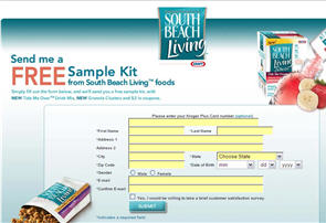 Free South Beach Living Sample Kit