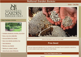 Free Seeds from National Garden Bureau