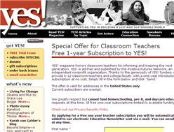 Free Yes! Magazine for Teachers
