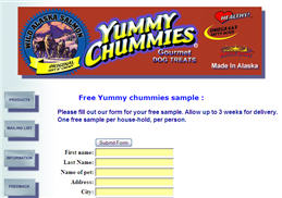 Free Yummy Chummy Dog Treat Sample