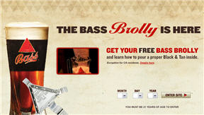 Free Bass Beer Brolly 21 Select States