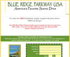 Free 2008 Blue Ridge Parkway Guidebook