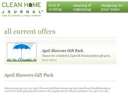 Free Ziploc® and Glade® Products from Clean Home Journal