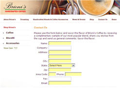 Free Brioni's Coffee Sample