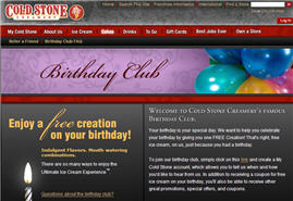 Free Cold Stone Creamery Ice Cream on Your birthday