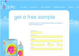 Free Dapple Baby Dish Soap Sample
