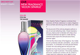 Free Sample of Moon Sparkle Escada Fragrance