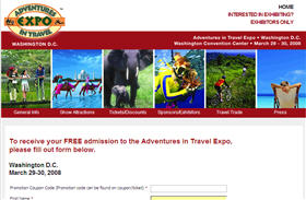 Free Admission to the Adventures in Travel Expo DC Area Only