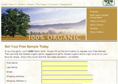 Free Sample of Garlic Gold