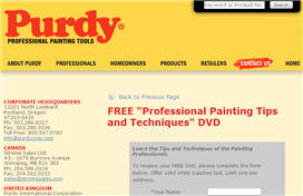 Free Professional Painting Tips and Techniques DVD