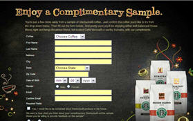Free Starbucks Coffee Sample