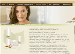 Free Sample of Aveeno® Positively Ageless™