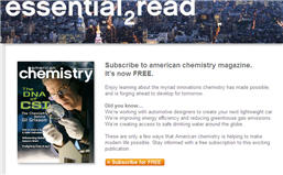 Free American Chemistry Magazine Subscription