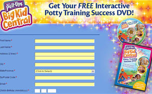 Free Pull-Ups Interactive Potty Training Success DVD