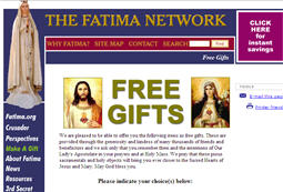 Free Religious Gifts from Our Lady of Fatima