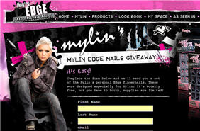 Free Set of Mylin's Personal Edge Fingernails