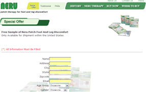 Free Sample of Neru Patch Foot And Leg Discomfort