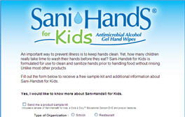 Free Sample of Sani-Hands® for Kids