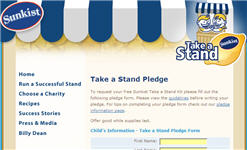 Free Sunkist Take a Stand Kit