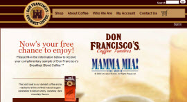 Free Sample of Don Francisco's Blend Coffee