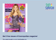 Free 5 Issues of Cosmopolitan Magazine