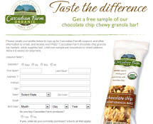 Free Cascadian Farm Chocolate Chip Granola