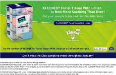 Free KLEENEX® Facial Tissue With Lotion