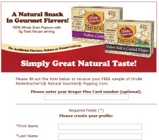 Free Sample of Orville Redenbacher's Pop Corn
