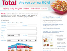 Free Sample of Total Cranberry Crunch Cereal