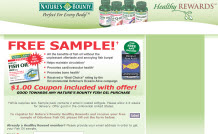 Free Sample of Fish Oil from nature's Bounty