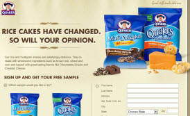 Free Quaker Mini Delights Rice Cakes Sample