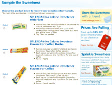 Free SPLENDA® No Calorie Sweetener Packets