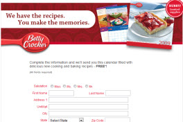 Free Betty Crocker Calendar